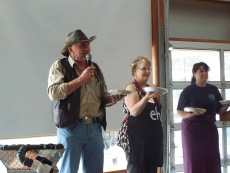 Auctioning off Homemade Pies